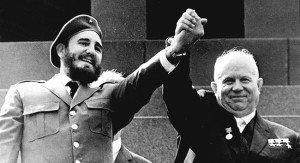 Fidel Castro and Nikita Khrushchev