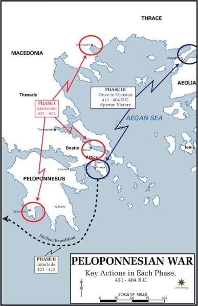 Pelopennesian War map