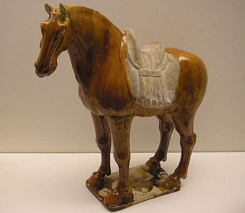 Porcelain horse from Tang dynasty