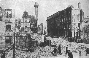 Sackville Street after the 1916 Rising