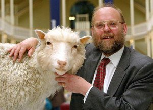 Sir Ian Wilmut with Dolly