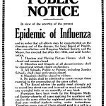 Spanish Flu public notice