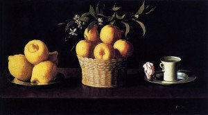 Still Life with Lemons, Oranges and a Rose - Zurbaran