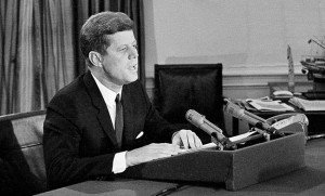 President Kennedy addresses the nation about the Cuban Missile Crisis
