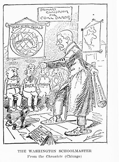 Theodore Roosevelt 1902 coal strike cartoon