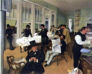 A Cotton Office in New Orleans (1873) - Edgar Degas