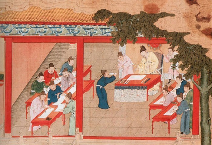 A depiction of Palace Examination