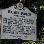 Banneker's farm and residence marker