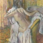 After the Bath, Woman drying herself (1895) - Edgar Degas