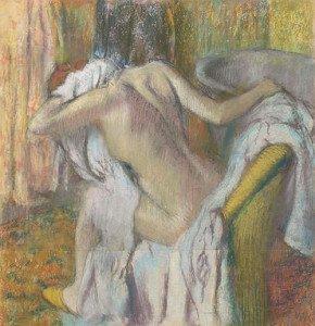 After the Bath, Woman drying herself (1895) - Edgar Degas