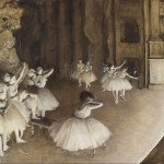 Ballet Rehearsal on Stage (1874) - Edgar Degas