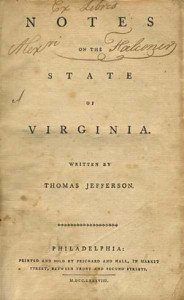 Notes on the State of Virginia Cover