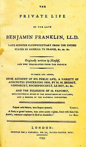 major accomplishments of benjamin franklin learnodo newtonic the autobiography of benjamin franklin cover