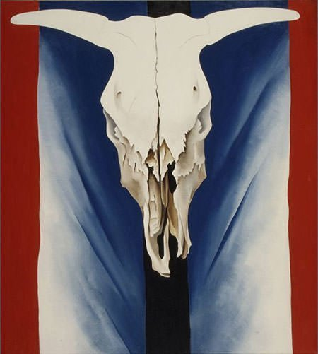 Cow's Skull - Red, White, and Blue (1931) - Georgia O'Keeffe