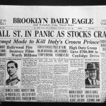 Black Thursday Brooklyn Daily Eagle headline