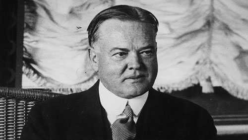 Herbert Hoover - US President during the Wall Street Crash