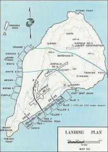 Iwo Jima - Landing Plan of U.S.