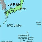 Iwo Jima on the map