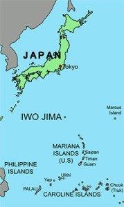 Iwo Jima on the map