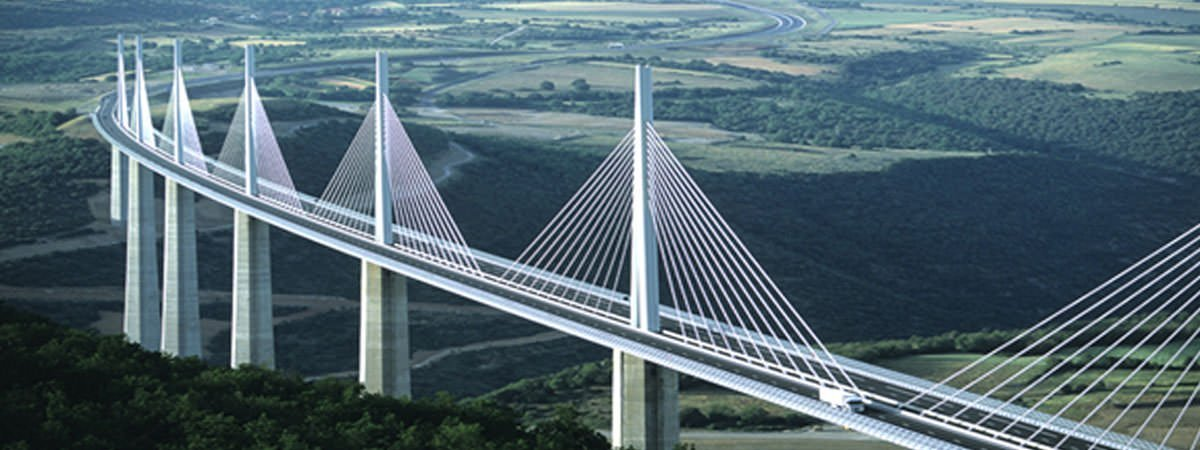 harp cable stayed bridge