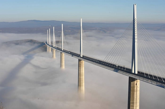 Millau Viaduct over the clouds