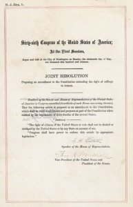 US Constitution Nineteenth Amendment