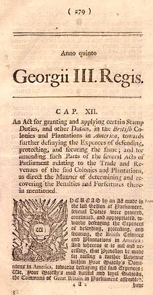 Notice of Stamp Act