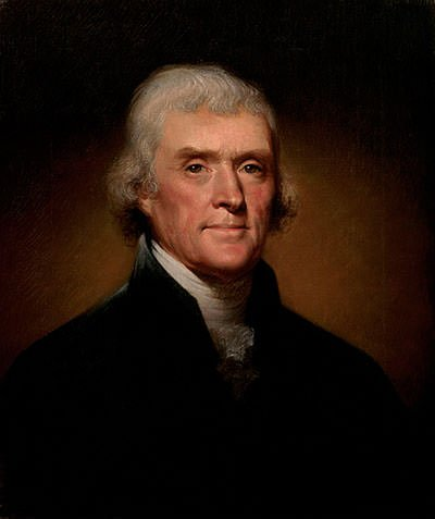 Thomas Jefferson Official Presidential Portrait