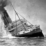 Lusitania sinking painting
