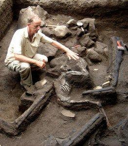 Tambora eruption victim remains