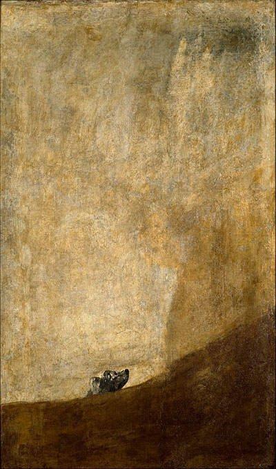 The Dog (1823) - Francisco Goya