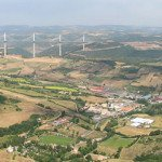 Millau Viaduct and the town of Millau