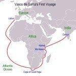 Vasco da Gama voyage route