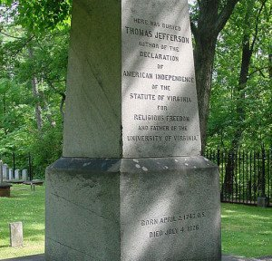 Thomas Jefferson Tombstone