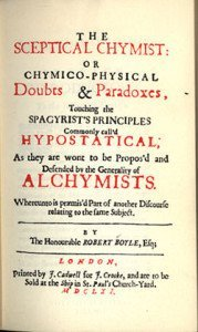 The Sceptical Chymist Title page