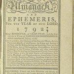 Banneker's 1792 almanac title page