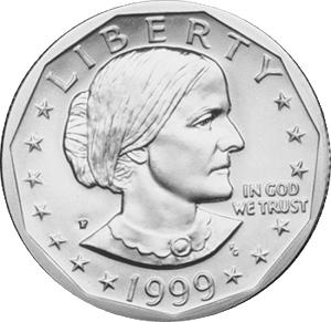 Susan. B. Anthony U.S. Dollar coin