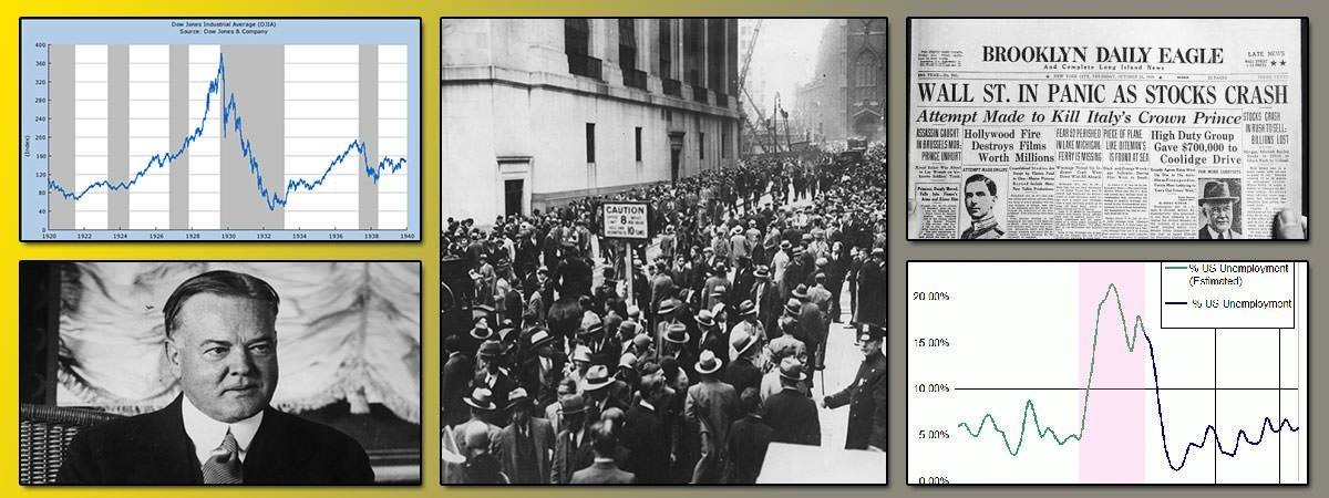 Wall Street Crash of 1929 Newspaper headline
