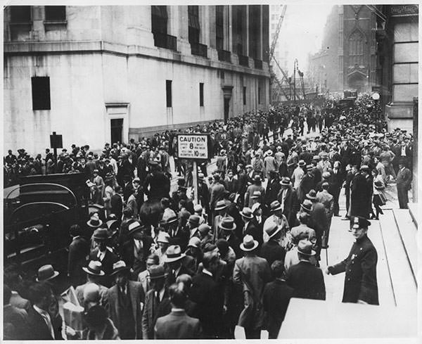 October 1929 Wall Street crash panic