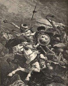 Depiction of Battle of the Catalaunian Plains