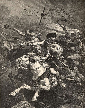 Depiction of Battle of the Catalaunian Plains