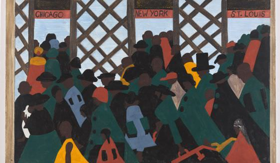 Migration Series Painting by Jacob Lawrence