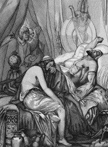 Depiction of Attila's death