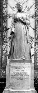Elizabeth Fry's statue in Old Bailey