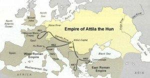 Hunnic Empire under Attila