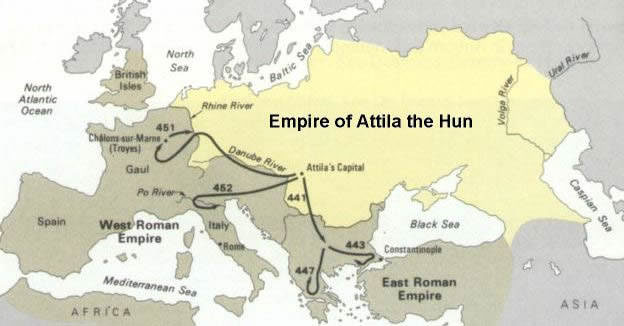 Hunnic Empire under Attila