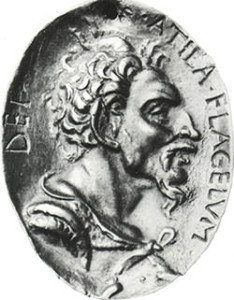 Renaissance medal of Attila the Hun