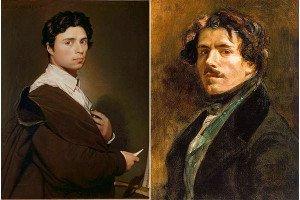 Ingres (left) and Delacroix (right)