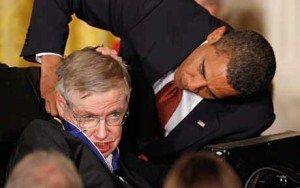 Stephen Hawking with Barack Obama