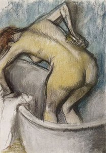 The Bath, Woman Supporting her Back (c. 1887) - Edgar Degas